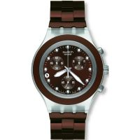Herren Swatch Full-Blooded Earth Chronograph Watch SVCK4042AG
