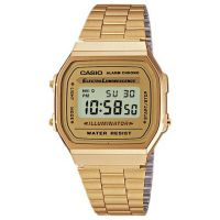 unisexe Casio Classic Leisure Alarm Chronograph Watch A168WG-9EF