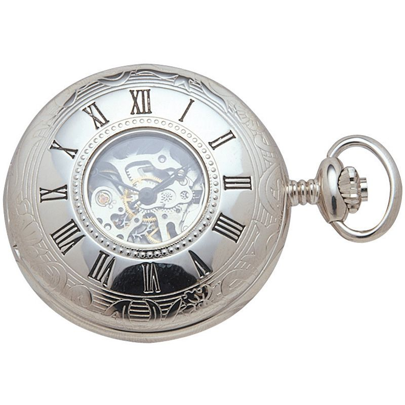 Woodford Half Hunter Skeleton Pocket Mechanical Watch
