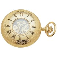poche Woodford Half Hunter Pocket Skeleton Watch WF1021