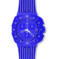 Unisex Swatch Purple Chronograph Watch
