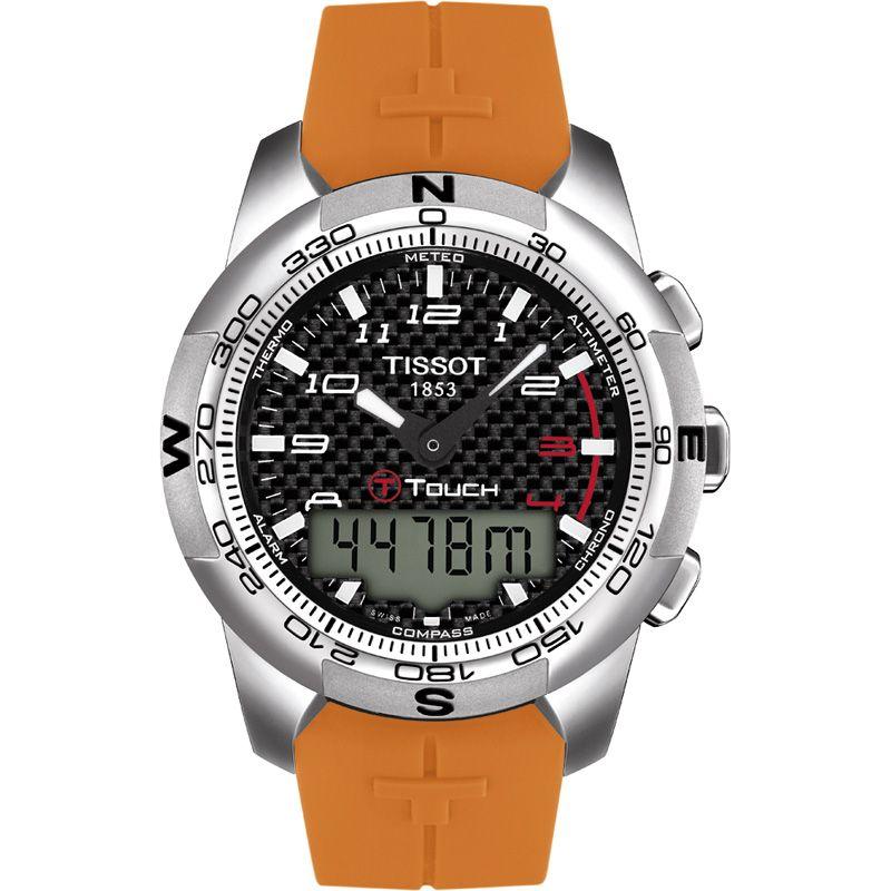 Herren Tissot T-Touch II Alarm Chronograph Watch T0474204720701