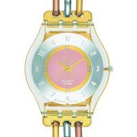 Damen Swatch Skins Tri-Gold Watch SFK240A