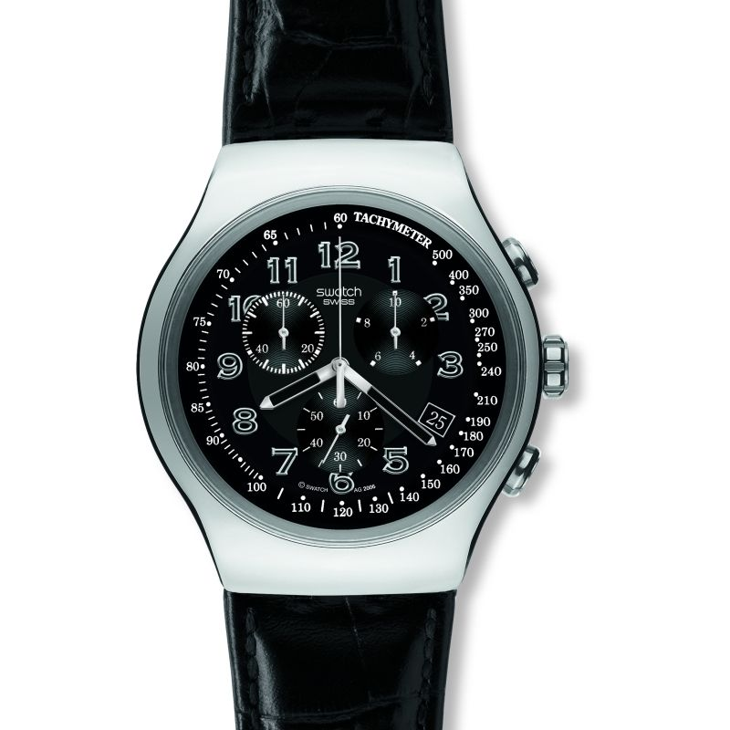 Mens Swatch Your Turn Black Chronograph Watch