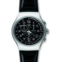 Herren Swatch Your Turn Black Chronograph Watch YOS440