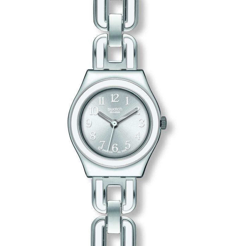 Damen Swatch White Chain Watch YSS254G