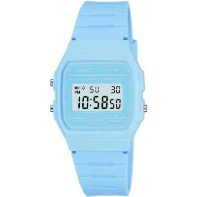 Unisex Casio Classic Alarm Chronograph Watch F-91WC-2AEF