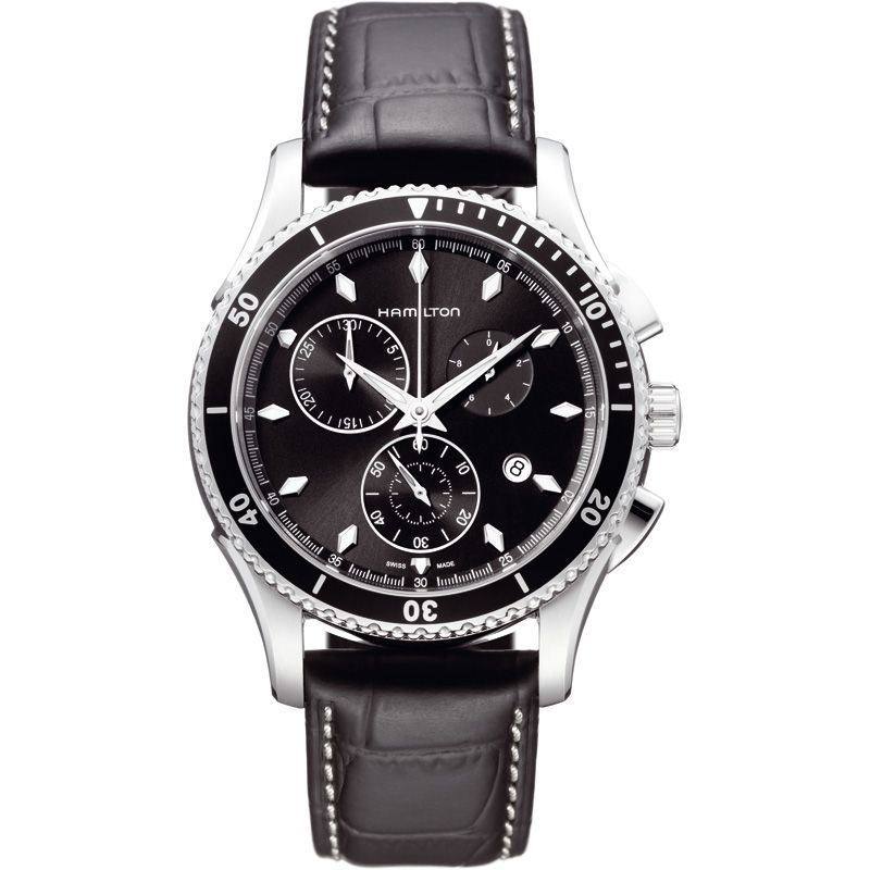 homme Hamilton Jazzmaster Seaview Chronograph Watch H37512731