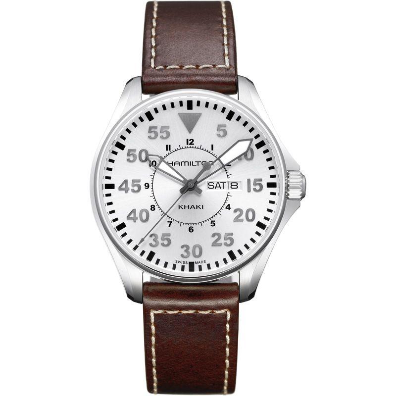 Mens Hamilton Khaki Pilot Quartz 42mm Watch