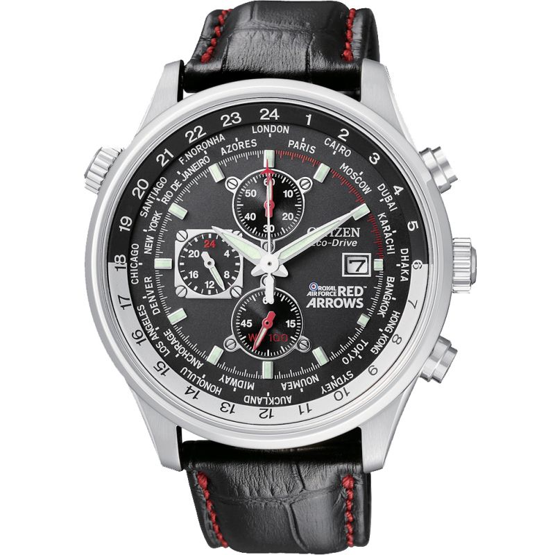 Mens Citizen Red Arrows World Time Chronograph Watch