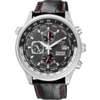 Hommes Citizen Red Arrows World Heure Chronographe Eco-Drive Montre