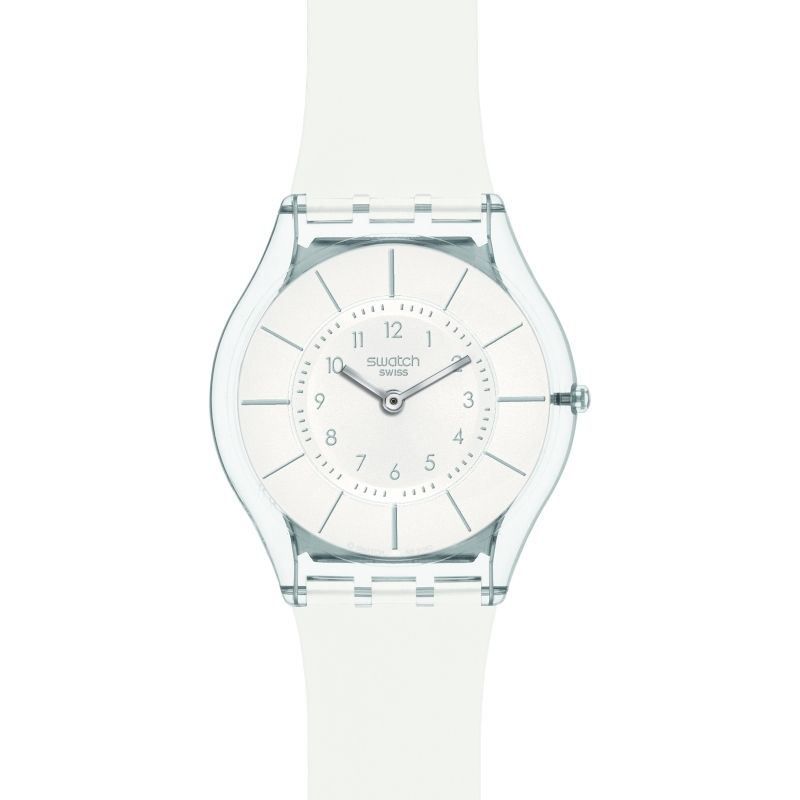 Unisex Swatch Skins White Classiness Watch SFK360