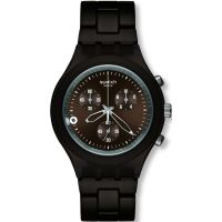 Herren Swatch Smoky Brown Chronograph Watch SVCC4000AG