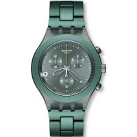 Herren Swatch Smoky Sky Chronograph Watch SVCM4007AG