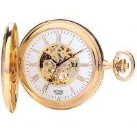 Royal London halb Hunter Tasche Skelett mechanisch Uhr