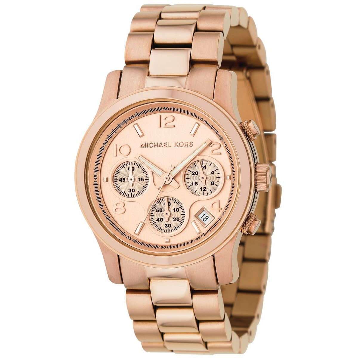 Latest Cheap Michael Kors Rose Gold Mk5128 Runway Rose Gold-Plated Watch for Men Outlet Outlet