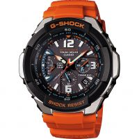 Mens Casio G-Shock Gravity Defier Alarm Chronograph Radio Controlled Watch