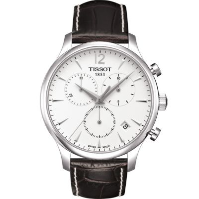 Tissot T-Classic Tradition Herrenchronograph in Braun T0636171603700