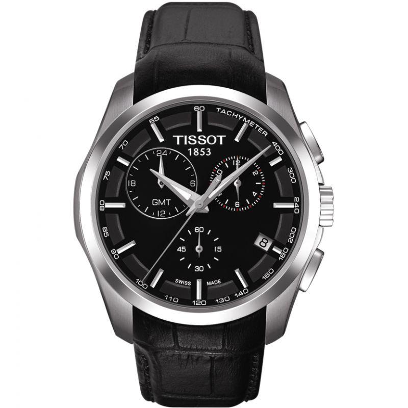 Herren Tissot Couturier GMT Chronograph Watch T0354391605100
