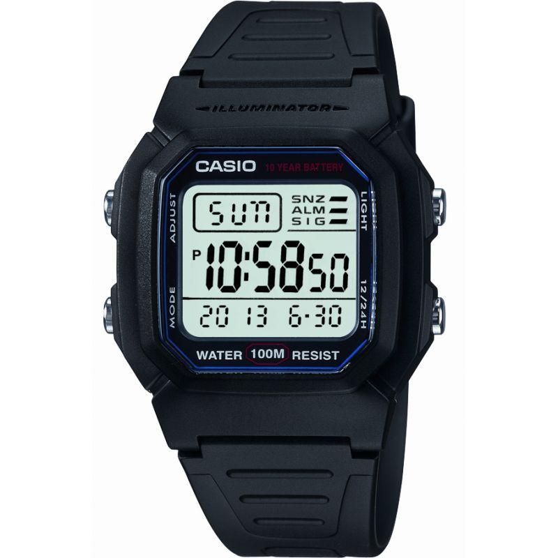 Herren Casio Sports Gear Alarm Chronograph Watch W-800H-1AVES
