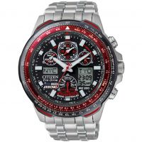 Herren Citizen Skyhawk A-T Red Arrows Alarm Chronograph Radio Controlled Eco-Drive Watch JY0110-55E