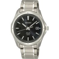 Mens Seiko Titanium Solar Powered Watch