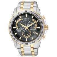 homme Citizen Chrono Perpetual A-T Alarm Chronograph Radio Controlled Watch AT4004-52E