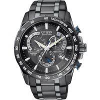homme Citizen Chrono Perpetual A-T Alarm Chronograph Radio Controlled Watch AT4007-54E
