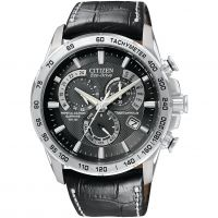 homme Citizen Chrono Perpetual A-T Alarm Chronograph Radio Controlled Watch AT4000-02E