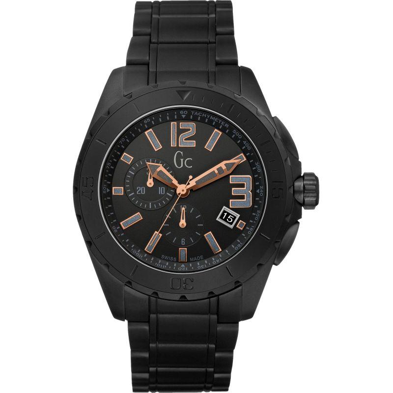 Mens Gc Sport Class XXL Blackout Ceramic Watch