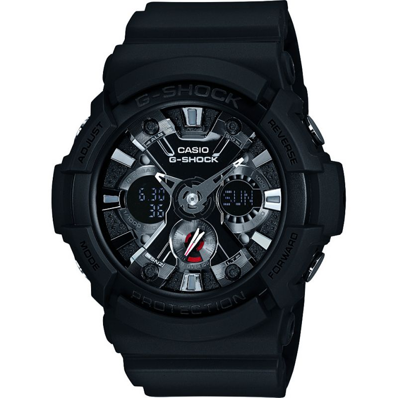 homme Casio G-Shock Alarm Chronograph Watch GA-201-1AER