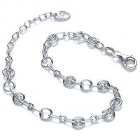 Ladies Royal London Sterling Silver Charm Bracelet