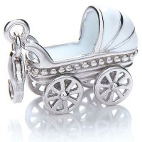 Ladies Royal London Sterling Silver Pram Charm