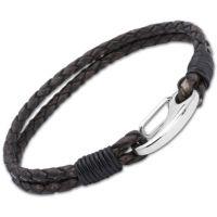 Biżuteria uniwersalne Unique & Co Antique Black Leather Bracelet B33ABL/21CM