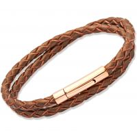 Biżuteria damska Unique & Co Bronze Leather Bracelet B66BR/19CM