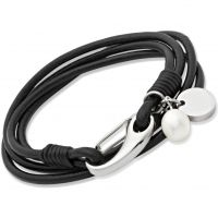 Biżuteria damska Unique & Co Black Leather Bracelet B67BL/19CM