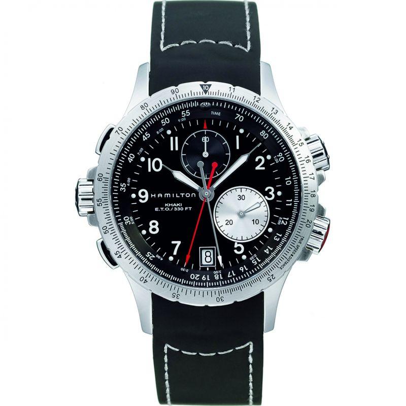 Mens Hamilton Khaki ETO Flyback Chronograph Watch