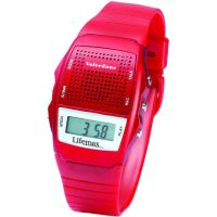 Lifemax Talking Voice Memo Unisexklocka Röd 428RED