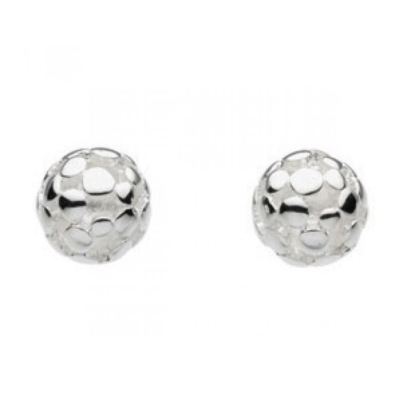 Ladies Kit Heath Sterling Silver Champagne Ball Stud Earring 40185HP006