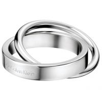 Ladies Calvin Klein Stainless Steel Coil Ring Size L.5 KJ63AR010106