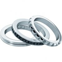 Ladies Calvin Klein Stainless Steel Astound Ring Size L.5 KJ81BR050106