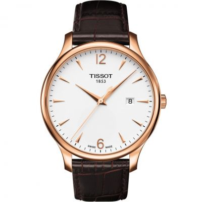 Tissot T-Classic Tradition Herrenuhr in Braun T0636103603700