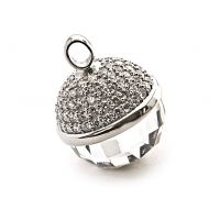 Zinzi Dames pendant 25mm CZ WHITE Sterling Zilver ZIH623