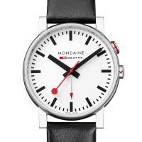 Herren Mondaine Swiss Railways Alarm Watch A4683035211SBB