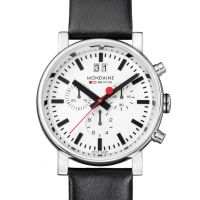 Herren Mondaine Swiss Railways Chronograph Watch A6903030411SBB