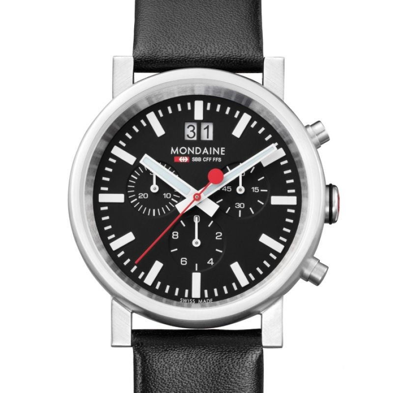 Herren Mondaine Swiss Railways Chronograph Watch A6903030414SBB