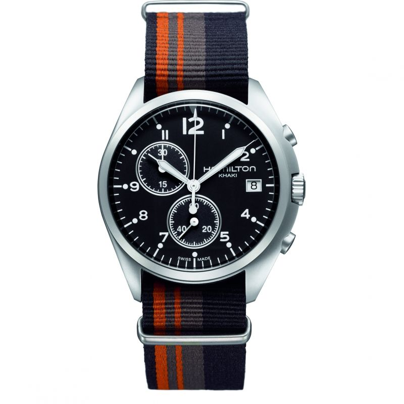 Mens Hamilton Khaki Pilot Pioneer Chronograph Watch