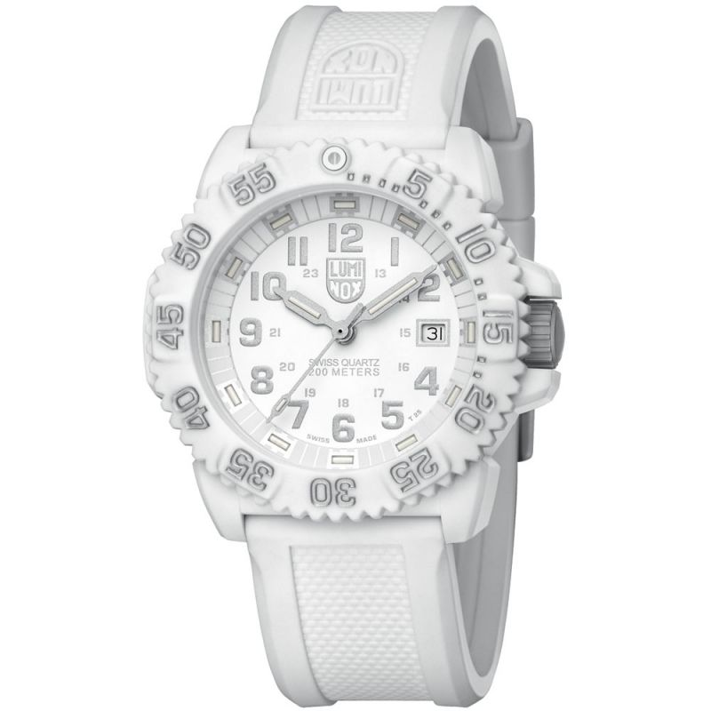 Unisex Luminox Navy Seal Colormark 3050 Series Whiteout Watch