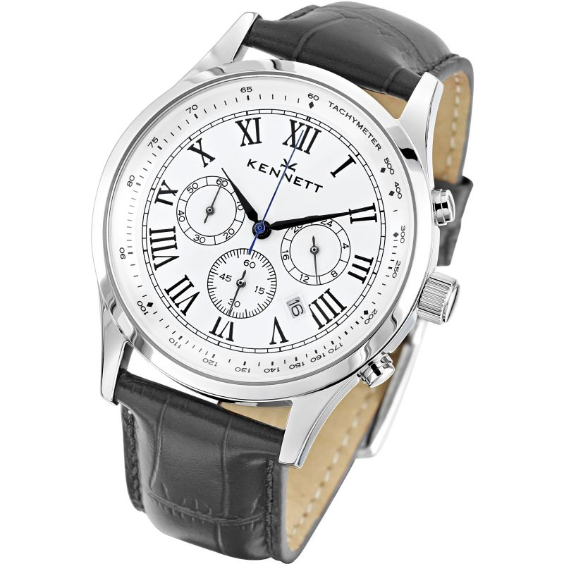 Mens Kennett Savro Chronograph Watch WSAVWHBKLBK