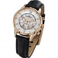 Damen Kennett Lady Savro Chronograph Watch LWSAVWHGOLBK